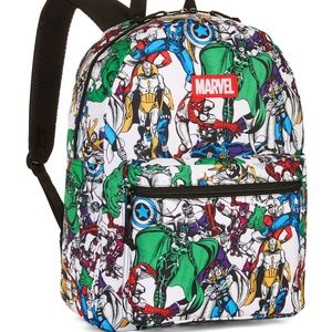 "Marvel Comics Avengers Comic Print 16"" Backpack"